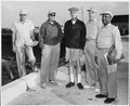 Photograph of members of President Truman's vacation party on a fishing expedition at Key West, Florida, (left to... - NARA - 200547.tif