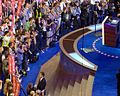 Photographers (and secret service agent) during Biden's entrance at the 2008 DNC (2818981619).jpg