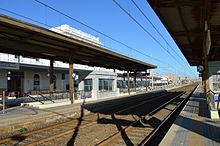Falconara Marittima, piazzale binari della stazione ferroviaria