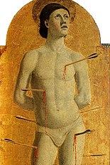 Piero, Pala della misericordia, santi sebastiano.jpg