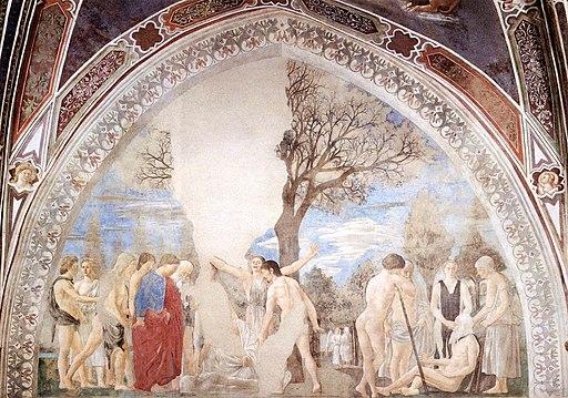 Piero della Francesca, Le Storie della Vera Croce, Morte di Adamo