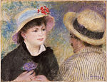Pierre-Auguste Renoir - Boating Couple (said to be Aline Charigot and Renoir) - Google Art Project.jpg