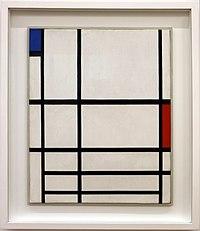 Piet mondrian, compoisizione in rosso, blu e bianco II, 1937, 01.JPG