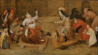 Combat between Carnival and Lent