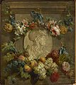 Pieter Faes - Medallion with Minerva surrounded by fruits and flowers.jpg