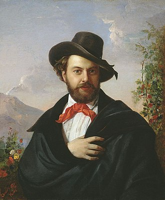 Pimen Orlov - Self-portrait (1851)