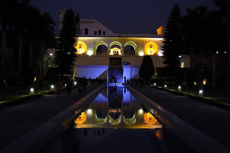 Pinjore Gardens at night