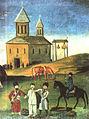 Pirosmani, «Kakhetian Epos (Alasan Valley)».Detail.jpg