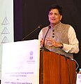 """Piyush Goyal addressing at the launch of the Mobile application """"TARANG"""" (Transmission App for Real time Monitoring & Growth), e-bidding and e-RA Platform for TBCB Transmission Projects, in New Delhi.jpg"""