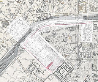 Decauville railway at Exposition Universelle (1889) - Route