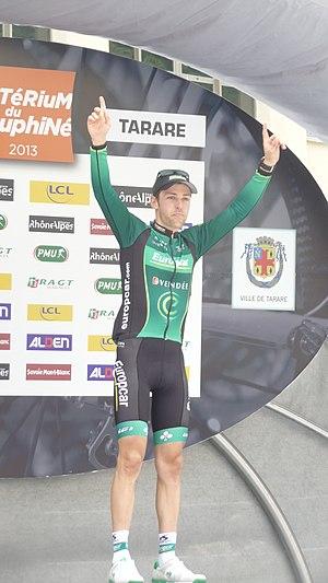 2013 Critérium du Dauphiné - Image: Podium de la 3e étape à Tarare (23)