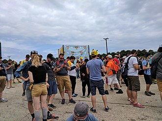 Pokémon Go - Players during the Pokémon Go Fest in Chicago in 2017