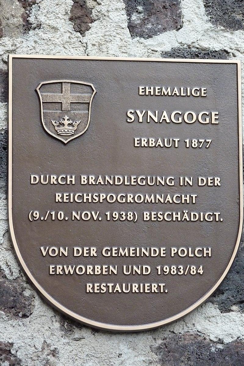 Polch Synagoge Tafel760.JPG