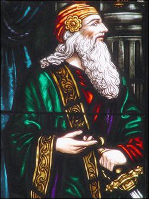 Polonius - A stained glass representation of Polonius