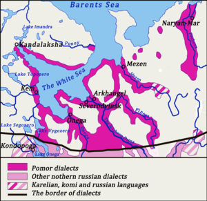 Pomor dialects - Image: Pomor dialects