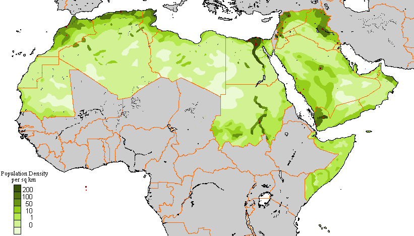 Population Density in the Arab World