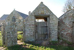 St Baglan's Church, Llanfaglan - St Baglan's church, lychgate