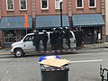 Portland police in riot gear during protest.jpg