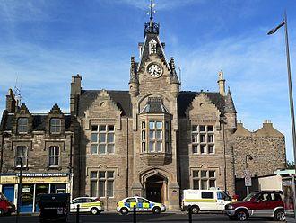 Portobello, Edinburgh - Portobello Police Station, by Robert Paterson built as Portobello Town Hall in 1878 and in use as the Police Station since 1896.