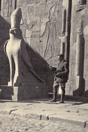 Arthur Weigall - Weigall at the Temple of Edfu, before 1913
