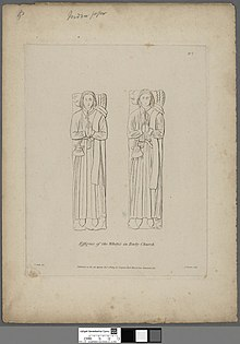 Portrait of Effigies of the White's in Tenby Church (4672150).jpg