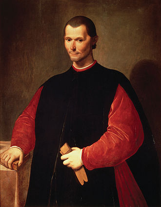 The Prince, written by Niccolo Machiavelli (pictured), argued that it is better for a ruler to be feared than loved, if you cannot be both Portrait of Niccolo Machiavelli by Santi di Tito.jpg