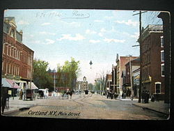 Downtown Cortland in 1906