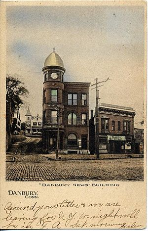 The News-Times - The Danbury News Building as depicted in a postcard circa 1906