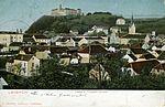 Postcard of Ljubljana from Trnovo church 1904.jpg