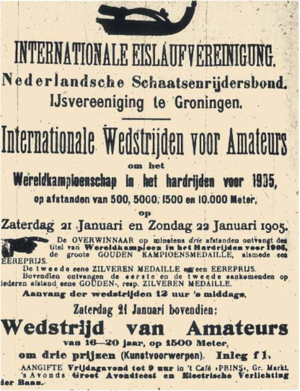 1905 World Allround Speed Skating Championships - Poster 1905