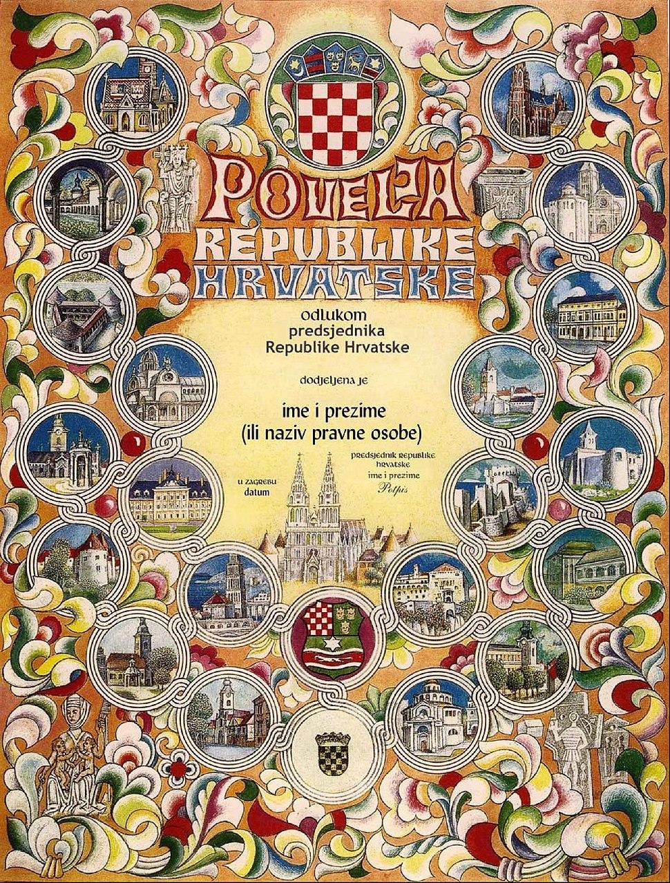Povelja Republike Hrvatske