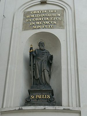 St. Paul's statue on the Holy Cross Chapel, Pr...
