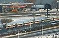 Praha, Radlice, Ctirad, kolona autobusů na Lihovaru.jpg