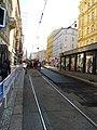 Praha, zastávka I. P. Pavlova, oprava tramvajové trati - pohled z náměstí I. P. Pavlova.JPG
