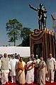 Pratibha Devisingh Patil, the Vice President, Shri Mohd. Hamid Ansari, the Prime Minister, Dr. Manmohan Singh, the Speaker, Lok Sabha, Shri Somnath Chatterjee and other dignitaries paid tributes to Baba Saheb.jpg