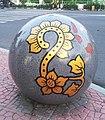 Precast Sphere Bollard with Gajah Oling motif in Banyuwangi.jpg