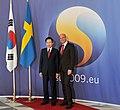 President Lee meets Prime Minister Fredrik Reinfeldt of Sweden (4345716524).jpg