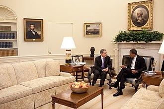 Álvaro Uribe - President Álvaro Uribe and the US president Barack Obama.