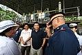 President Rodrigo Duterte is greeted by Philippine National Police Director General Ronald Dela Rosa at the seized shabu laboratory in Arayat, Pampanga on September 27.jpg