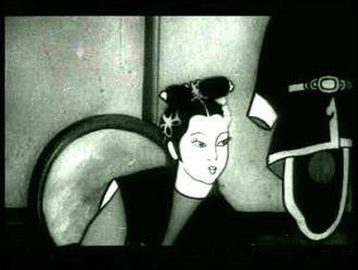Cinema of China - A frame from the 1941 film Princess Iron Fan, Asia's first feature-length animated film
