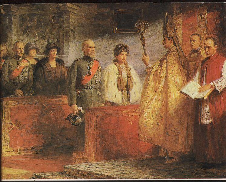Datei:Prinz Georg mit Eltern als PriesterJS.jpg