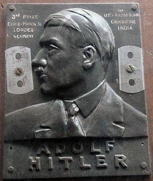Gopalswamy Doraiswamy Naidu - 3rd Prize for UMS Razor Company for Razor blades in an exhibition in 1936 in Leipzieg, Germany.