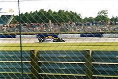Alain Prost podczas Grand Prix Wielkiej Brytanii w 1993 roku