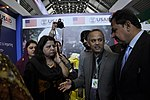 Provincial Minister for Agriculture visiting the stall of USAID's Entrepreneurs Project at Dawn Sarsabz Pakistan Agri Expo. (13125415075).jpg