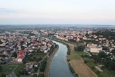 Przemysl and San river from the west 2009-07