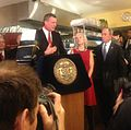 Public Advocate Bill de Blasio Applauds City's Anti-Obesity Initiative (8551515655).jpg