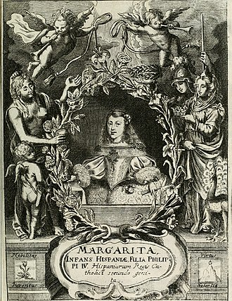 Margaret Theresa of Spain - A 1666 publication flyer promoting Infanta Margarita, the future bride of her uncle Emperor Leopold