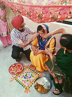 Mayian Punjabi wedding preparation ceremony