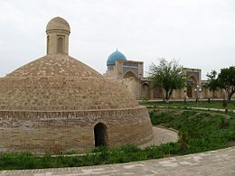 Qarshi Kok Gumbaz Mosque and cistern.JPG