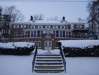 Quadrangle Club - View from the back, in winter